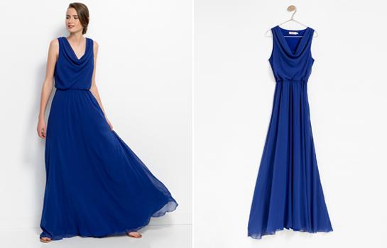vestido de fiesta Poète azul Klein