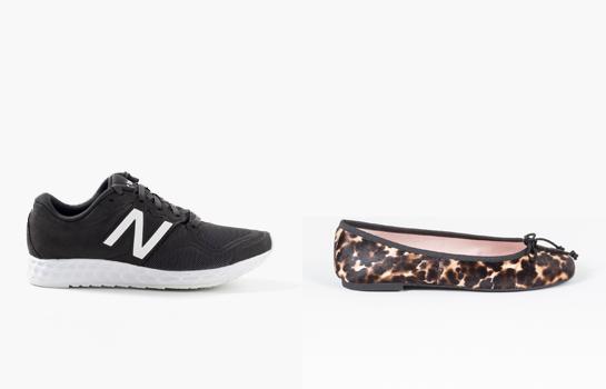 Zapatillas New Balance y Bailarinas Pretty