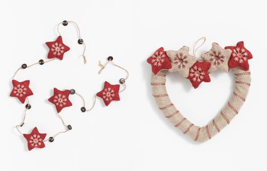 Adornos navideños de Textura