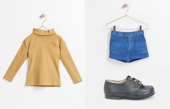 polo Trasluz cisne marrón con shorts Trasluz callao azules y zapatos Neck & Neck grises