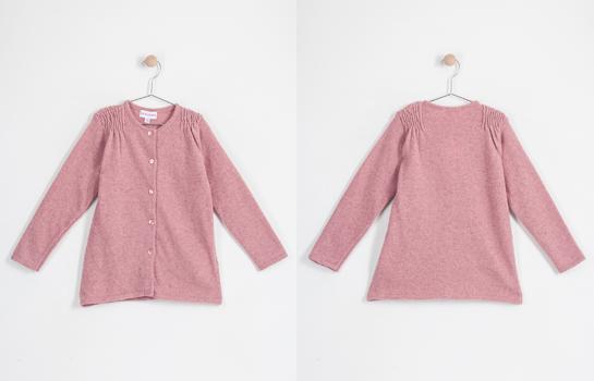 chaqueta tricotosa Neck & Neck rosa