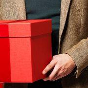 caja de regalo rojo