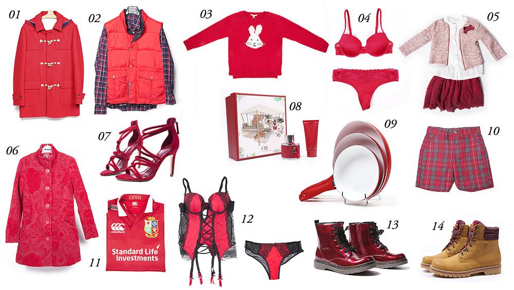 bazar coruna rojo navidad