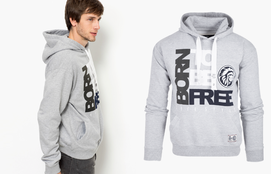 sudadera gris de The indian Face