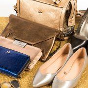 bodegón zapatos y bolsos de charol