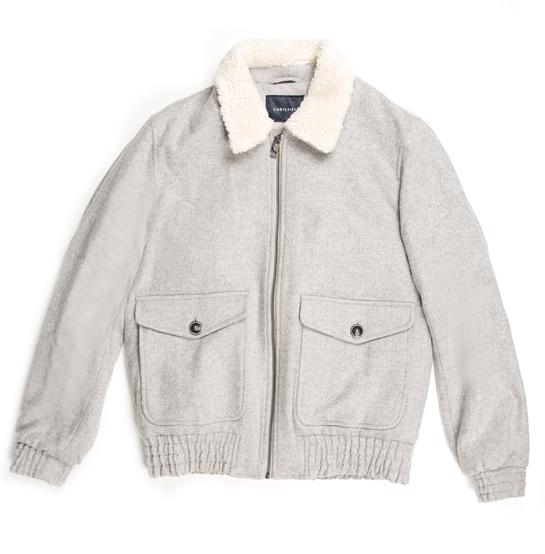 chaqueta gris borreguito FiftyFactory