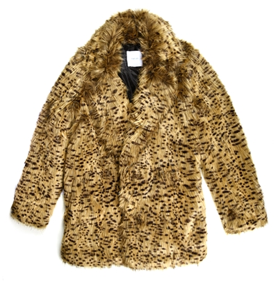 abrigo leopardp mango