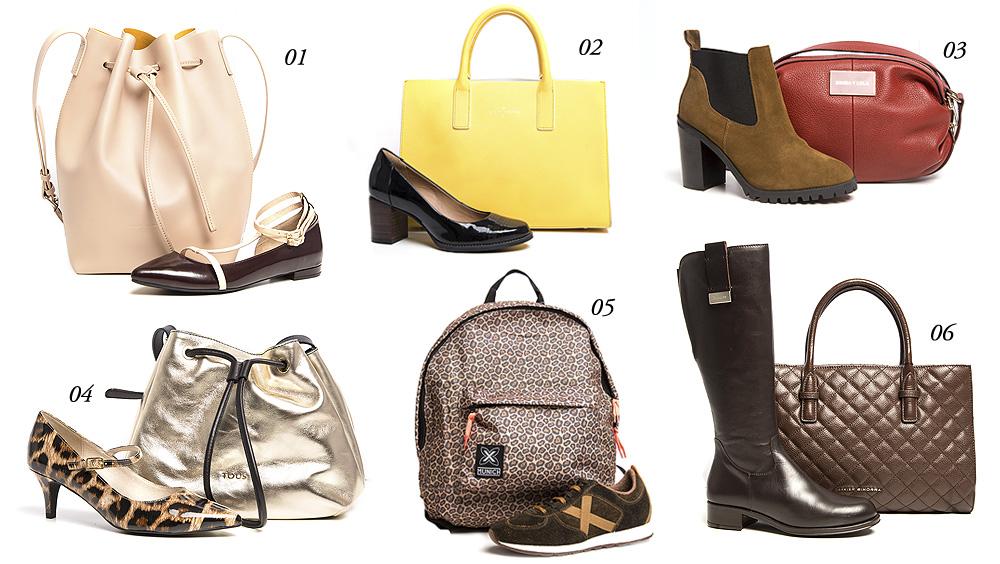 bazar combo zapatos y bolsos