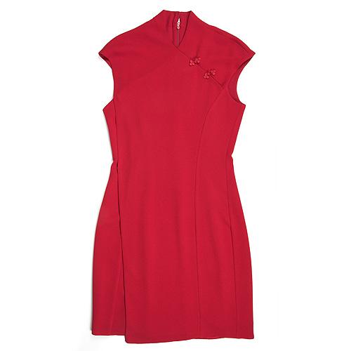 vestido rojo Adolfo Domíguez