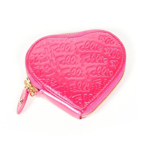 monedero rosa corazón