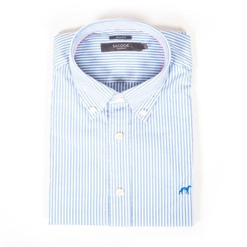 camisa rayas celeste