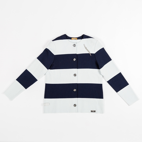 abrigo rayas navy
