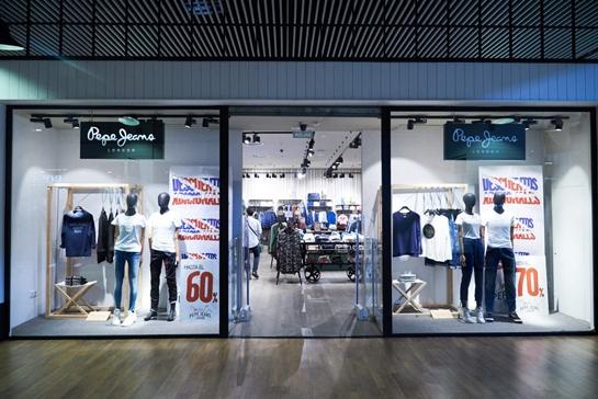 escaparate tienda pepe jeans sevilla
