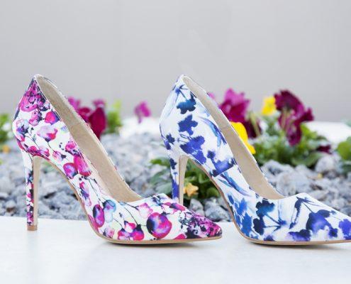 bodegón zapatos de flores