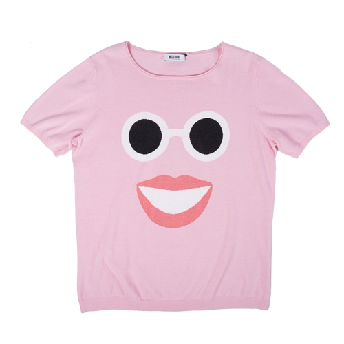 camiseta sonrisa rosa