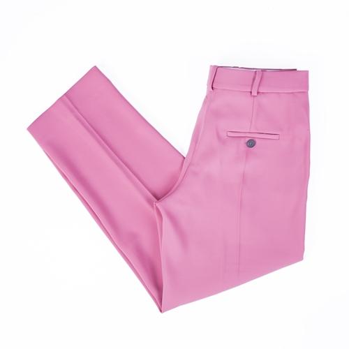 pantalones rosa Mango