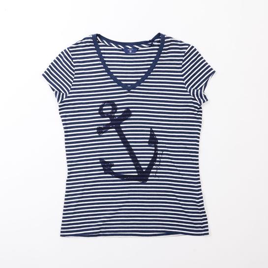 camiseta rayas ancla