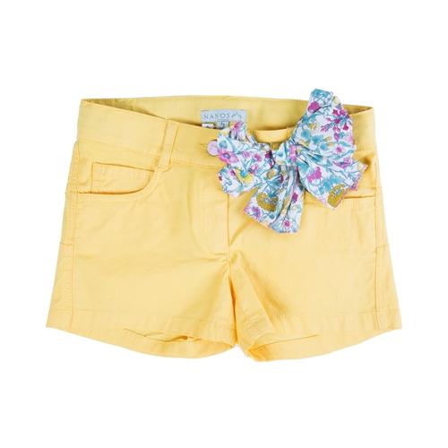 shorts amarillos con lazo