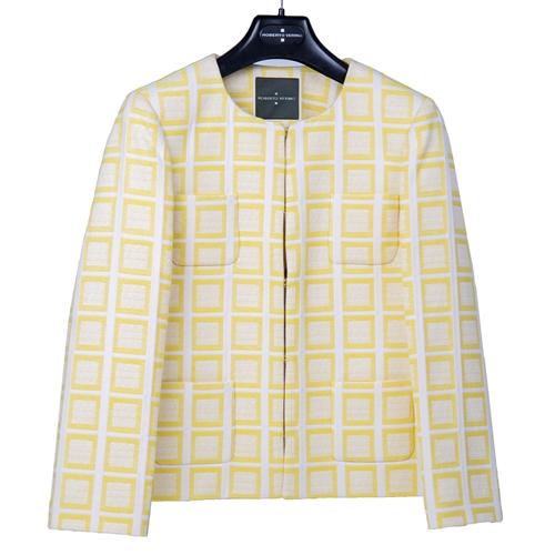 chaqueta cuadros amarillos