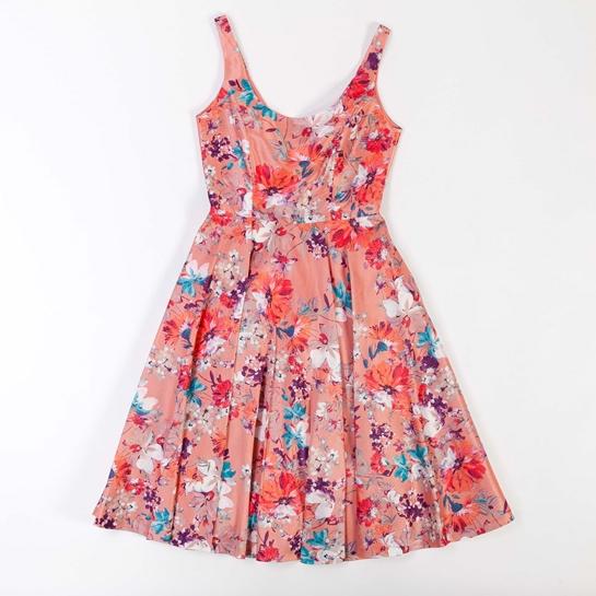 vestido lady de flores