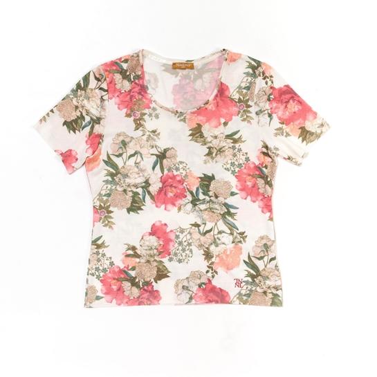 camiseta de flores rosas