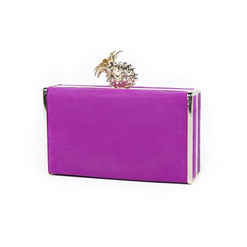 bolso rosa con piña