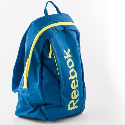 mochila azul reebok