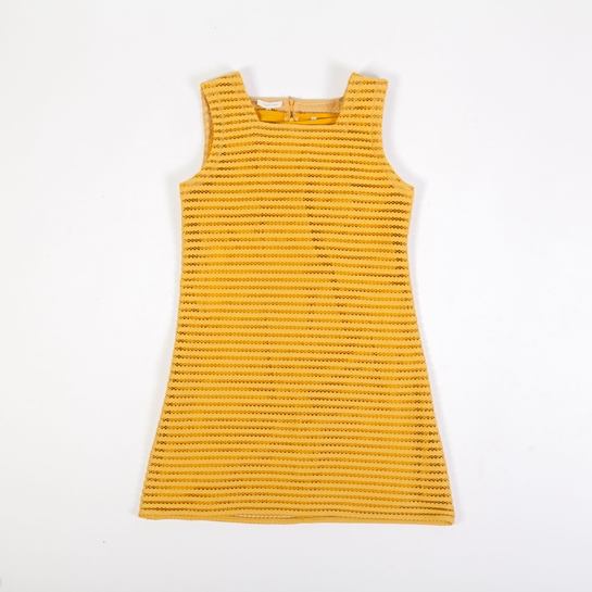 vestido sesentero amarillo