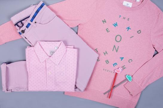 bodegón rosa moda hombre