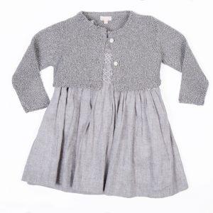 vestido gocco gris niña