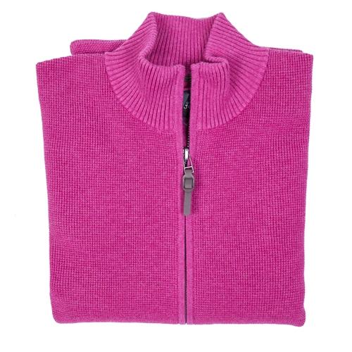 jersey rosa con cremallera