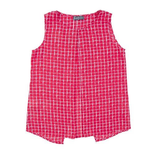 blusa cuadros roja