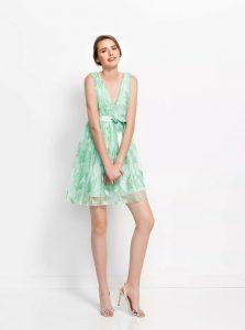 vestido poète atenea verde fiesta