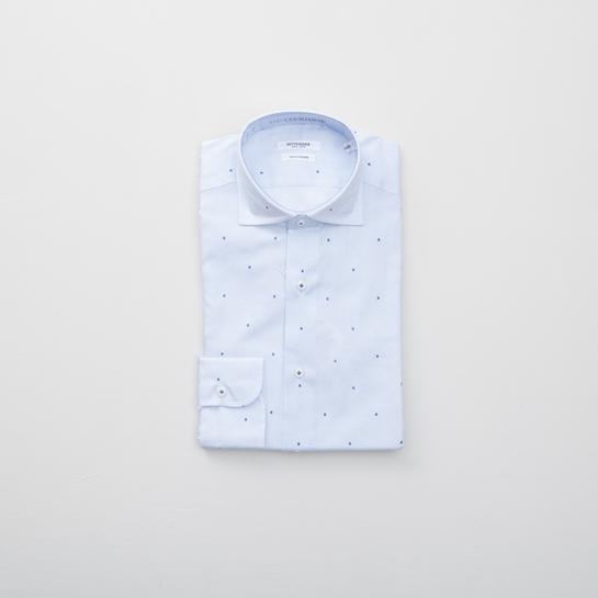 camisa celeste gutteridge