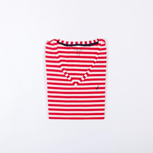 camiseta rayas rojas