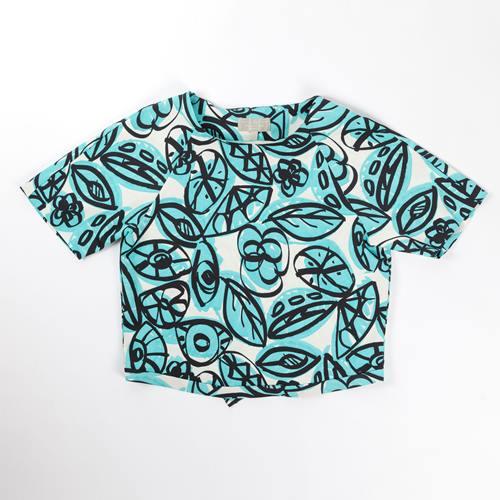camiseta estampado de hojas pedro del hierro