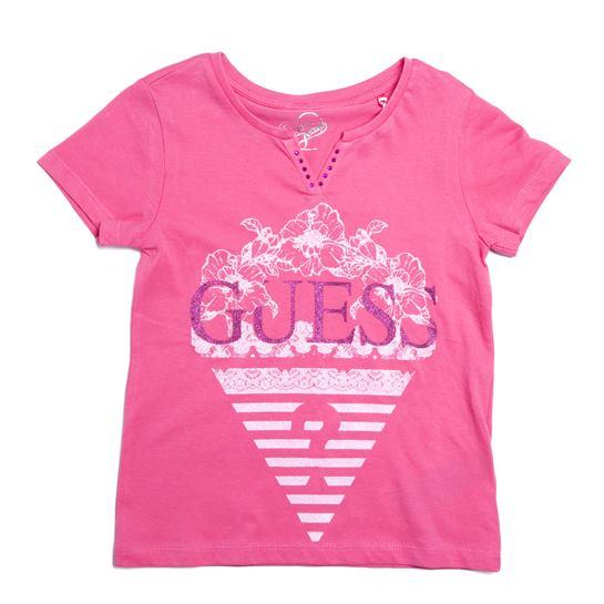 Camiseta Guess niña rosa