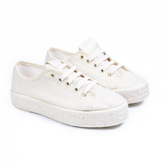 zapatillas blanca esparto