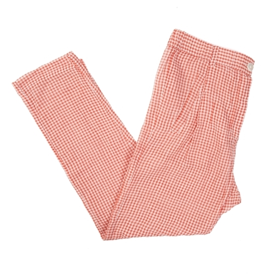 pantalones de cuadros naranja