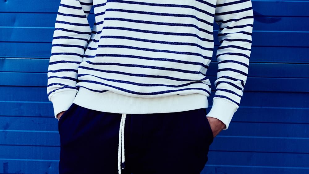 look jersey de rayas azules