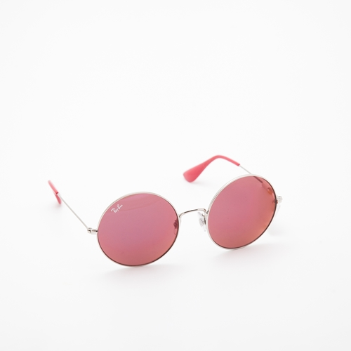 gafas rosa redondas