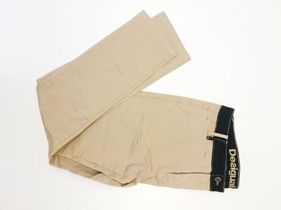 pantalón beige desigual