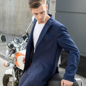 look traje chaqueta moto