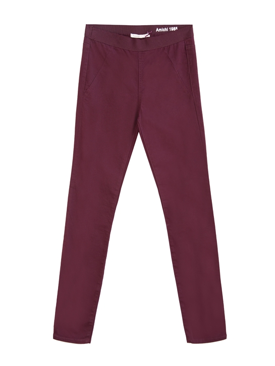 pantalones burdeos