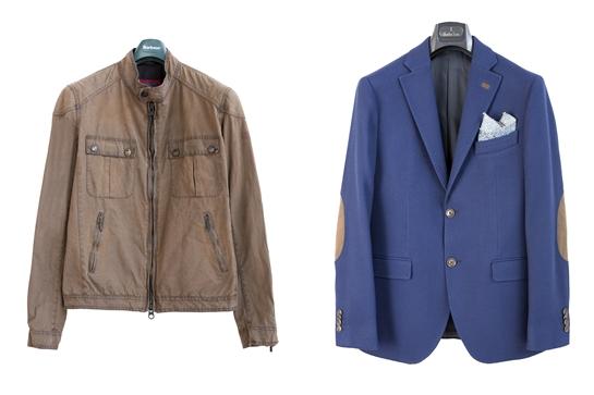 chaqueta de cuero y blazer