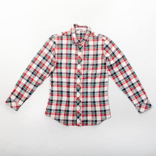 camisa cuadros roja y azul