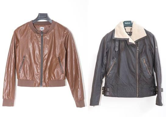 bodegón chaquetas de cuero