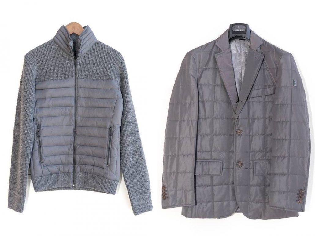 chaquetas grises