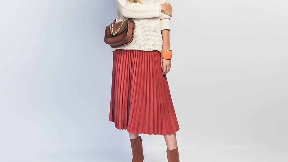 look falda color caldera