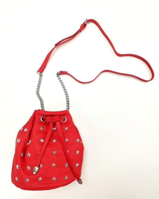 bolso saco rojo